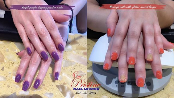 Which color you choose Light purple or Orange  Each color can certainly say about you more than you do Do you want to know what other people think about you  If YES please COMMENT below to tell us your option  Now come to Pristine Nails Lounge  let us help you get trendy  pristinenaillounge florida orlando maitland altamonte altamontespring oviedo lakemary longwood winterpark winterparkvillage lightpurpleNails OrangeNails